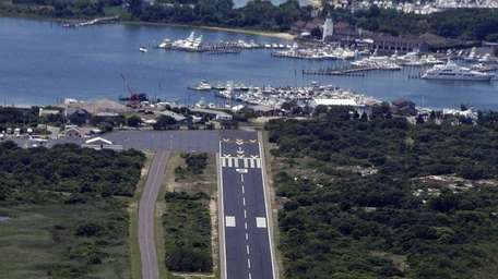 The privately owned, public-use airport at Montauk dates