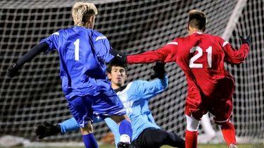 Suffolk Blue All Star Justin Galluzzo has hit