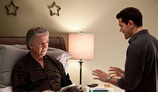 "Bobby and Christopher Ewing chat in the ""Family"