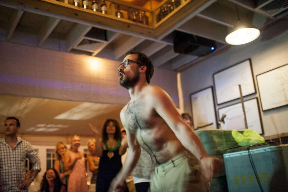 "Zach Bliss, the ""CEO of Fun,"" dances for"