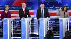 Elizabeth Warren, Joe Biden, Bernie Sanders and Kamala