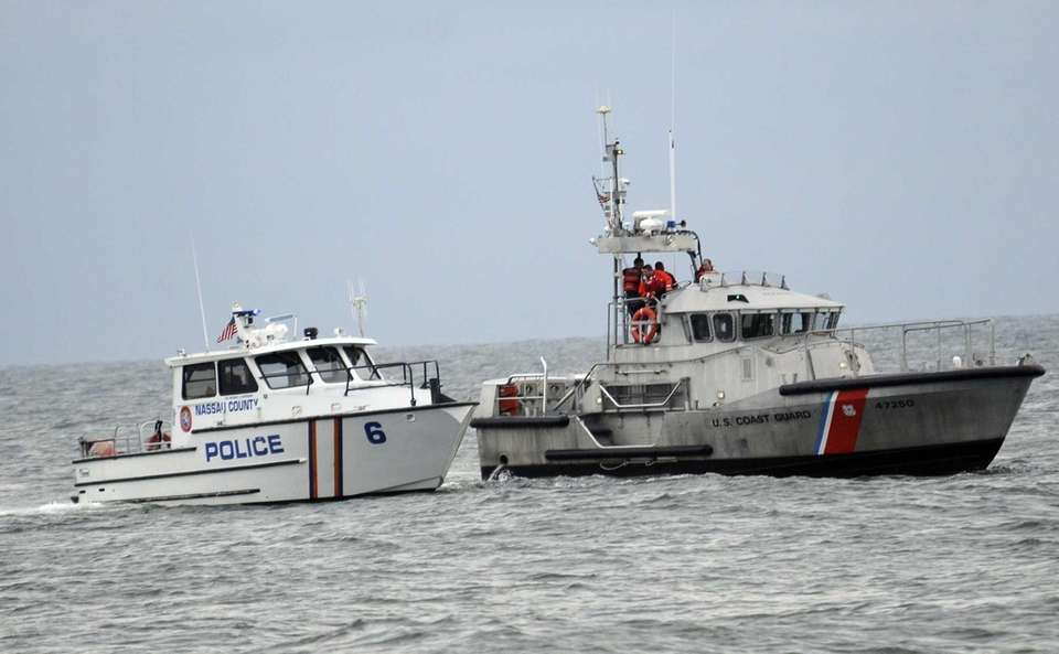 Nassau police and Coast Guard units search for