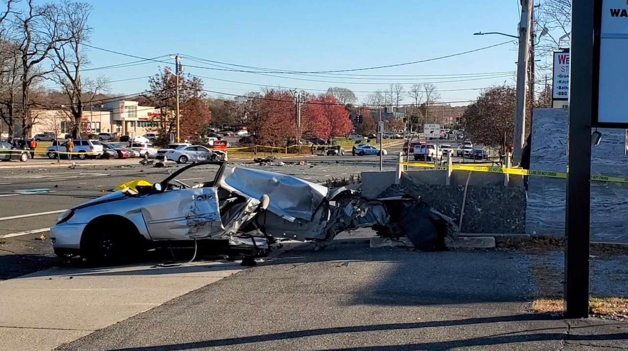 A multivehicle crash forced the closure of Route