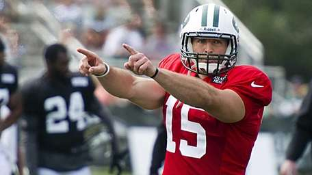 New York Jets' second QB Tim Tebow during