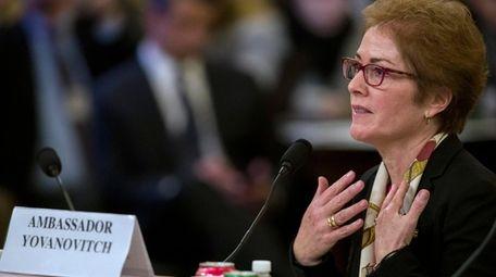 Former U.S. Ambassador to Ukraine Marie Yovanovitch testifies