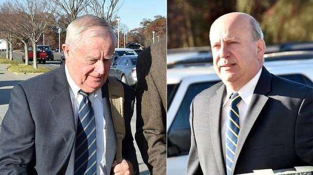 Former Suffolk County District Attorney Thomas Spota, left,