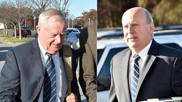 Former Suffolk County District Attorney Thomas Spota, left,