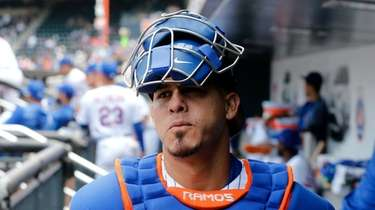 Mets catcher Wilson Ramos before a game against