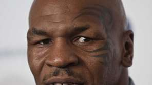 Former heavyweight world boxing champion Mike Tyson speaks