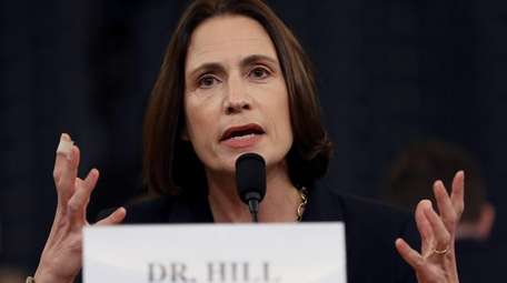 Fiona Hill, the National Security Council's former senior