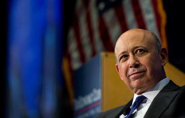 Goldman Sachs CEO Lloyd Blankfien speaks during an