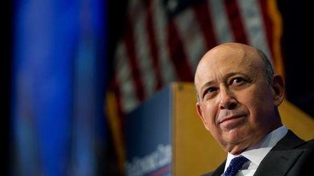 Goldman Sachs CEO Lloyd Blankfien speaks during an