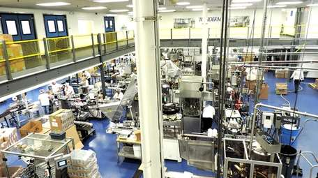 Inside one of three Topiderm Inc. facilities in