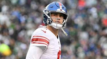 Giants quarterback Daniel Jones at MetLife Stadium on
