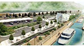 A rendering of the proposed Glen Cove ferry