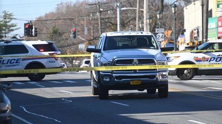 Nassau County police had a portion of Hempstead