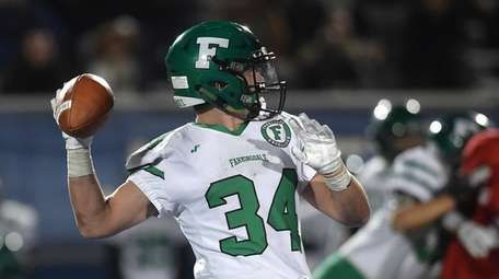 Farmingdale running back Kevin Wilson was used in