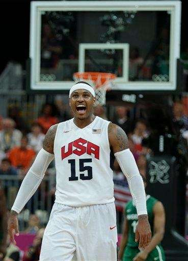 Carmelo Anthony scored 37 points as Team USA