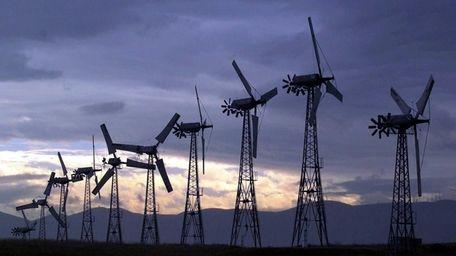 SeaWest Windpower wind turbine generators are seen near