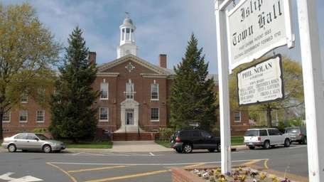 Islip Town Hall on Main Street. (May 10,