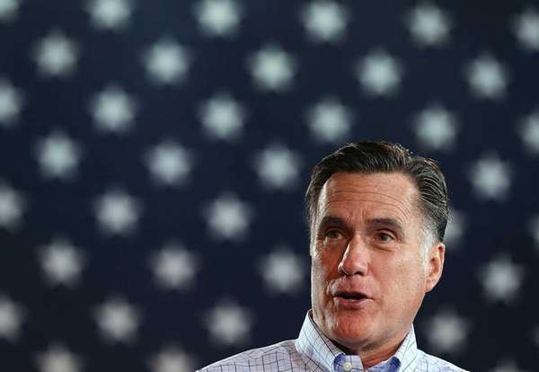 Mitt Romney during a campaign event in Basalt,