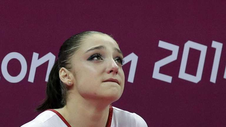 Russian gymnast Aliya Mustafina after her team's final