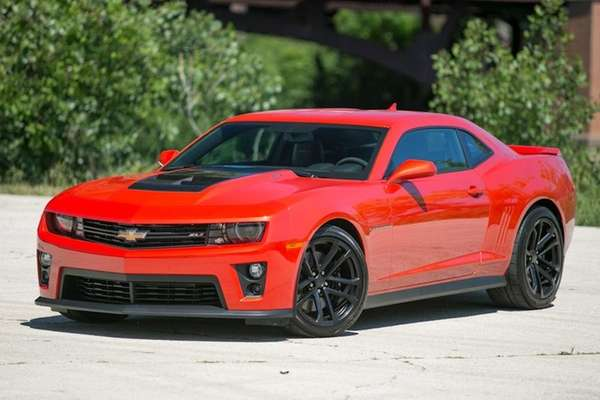 The ZL1 is an evil-looking Camaro with a