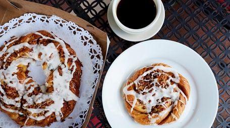 Vanilla pecan danish is among the delicacies at