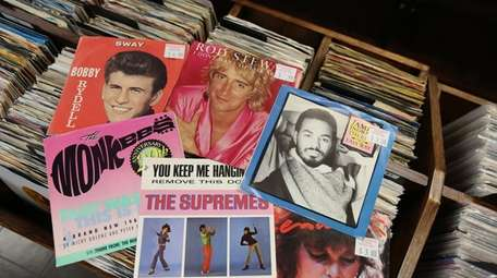 A selection of 45s are among 5,000 records