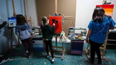 A Saturday afternoon painting class at CASK Art