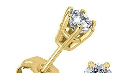 Szul 1/4-carat diamond solitaire stud earrings.