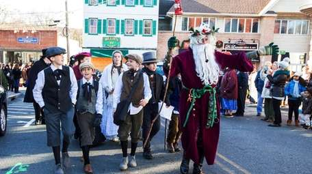 Costumed characters join Father Christmas of the North