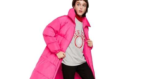 Make a dramatic statement with a casual puffer