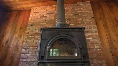 One of the Wading River home's wood-burning stoves.
