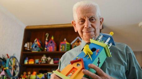 Louis Cialdella, 83, leads workshops on birdhouse construction.