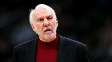Spurs head coach Gregg Popovich in the first