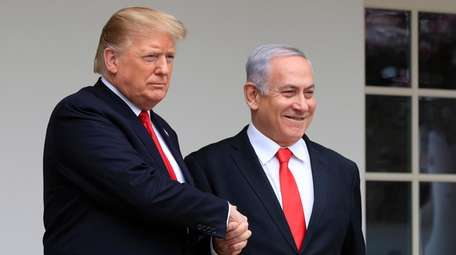 President Donald Trump welcomes visiting Israeli Prime Minister