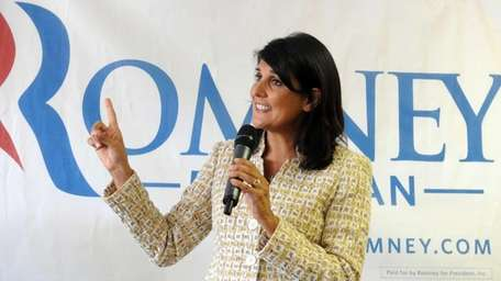 South Carolina Gov. Nikki Haley campaigns in Ann