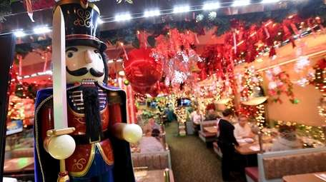 Over-the-top holiday decorations are a seasonal draw at
