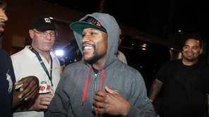 Floyd Mayweather Jr., exits the Clark County Detention