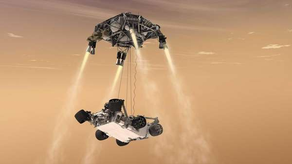 An artist's rendering provided by NASA/JPL-Caltech shows a