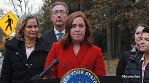 Nassau County Executive Laura Curran announces a new