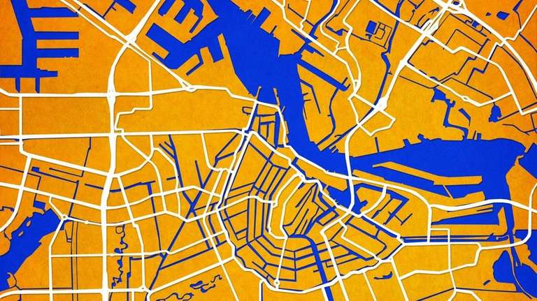 A map of Amsterdam from Atlanta-based City Prints