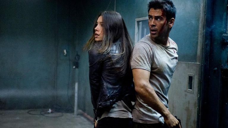 Jessica Biel and Colin Farrell in