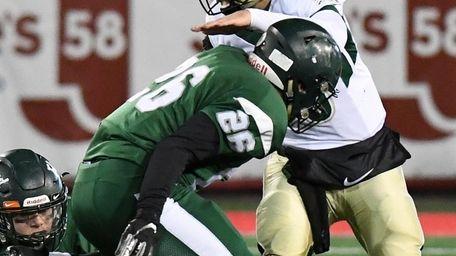 William Floyd's Randy Russo tackles Longwood quarterback Noah