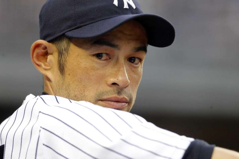 Ichiro Suzuki looks on during a game against