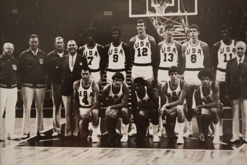 The 1972 U.S. Olympic men's basketball team. Kevin