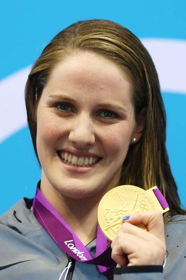 Gold medalist Missy Franklin of the United States