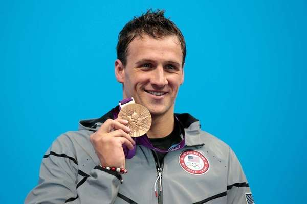 Silver medalist Ryan Lochte of the United States
