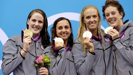 United States' women's 4 x 100-meter medley relay